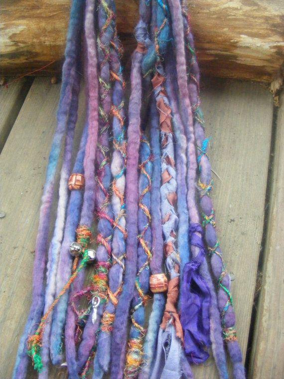 6 De Hand Dyed Wool Dreads Dreadlock Extensions By Gypsymarsala