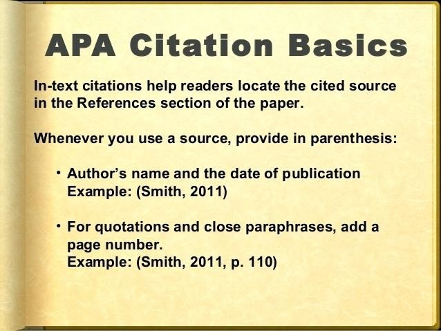 Image Result For How To Cite Reference In Apa 6th Edition Formatted Paper Writing Format Me On A Map Paraphrasing Author Name Parenthesis Parenthesi