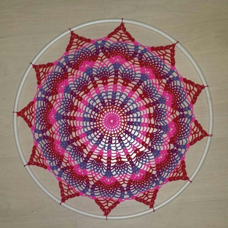 gehaakte dromenvanger  Crochet dreamcatcher