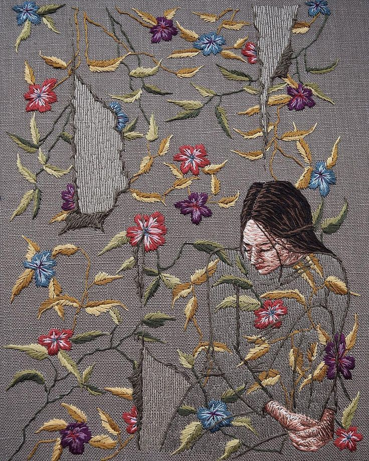 Best images about contemporary embroidery on pinterest