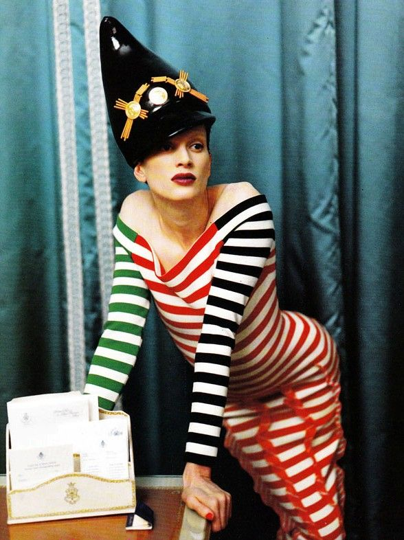 Atelier Versace  Vogue Italia, March 1993  Photographer: Steven Meisel  Model: Kristen McMenamy