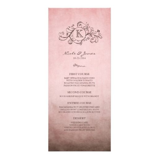 65 best Wedding ~ Menu Cards \ Posters images on Pinterest Menu - dinner party menu template