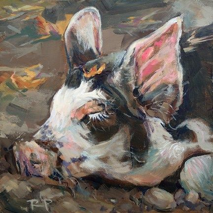 """Daily Paintworks - """"Sweet Dreams"""" by Robin Peterson"""