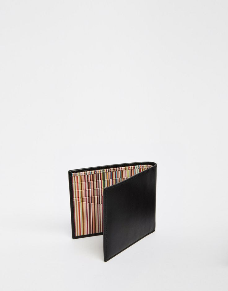 Image 3 ofPaul Smith Leather Billfold Wallet With Multistripe Lining