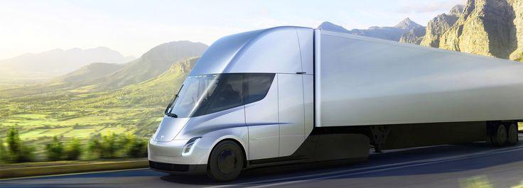 elon musk unveils the electric, autopilot-enhanced tesla semi truck