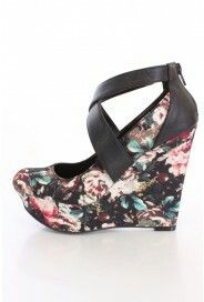 Oddly attractive.. boldblack straps, and floral print..