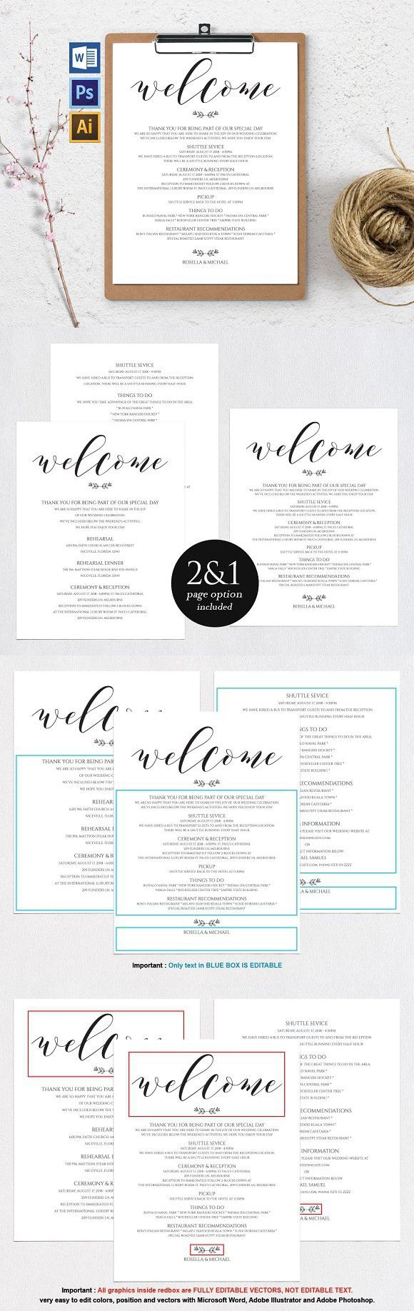 Wedding Itinerary Wpc106. Invitation Templates