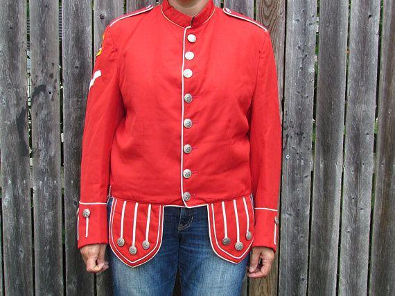 Vintage 1940's Zor Shriner Mastercut Uniforms Band Jacket
