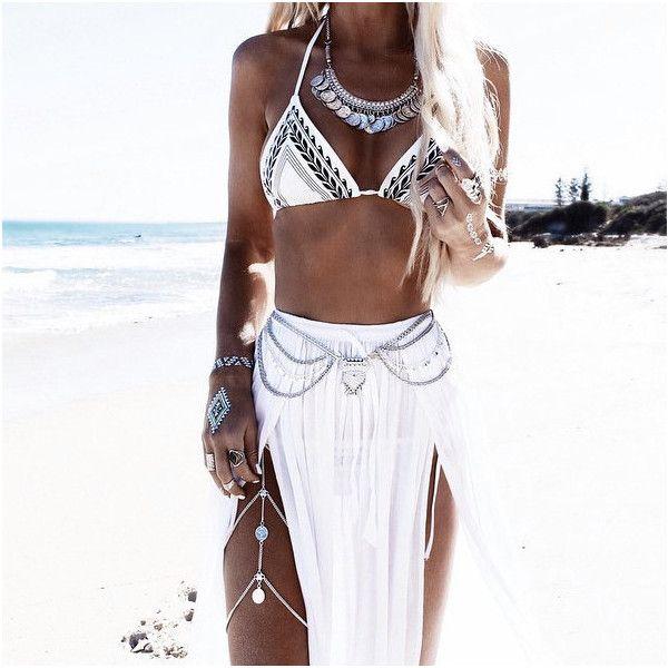 Salah Maxi Skirt Boho Skirt Soft White Voile Maxi Skirt (68 BAM) ❤ liked on Polyvore featuring black, dresses and women's clothing