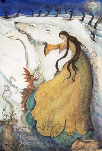 Jackie Morris.    http://www.jackiemorris.co.uk/: Inspiration, Polar Bears, The Artists, Illustrations, Fairy Tales, Paintings, Jackie Morris, Fairies Tales, The Moon