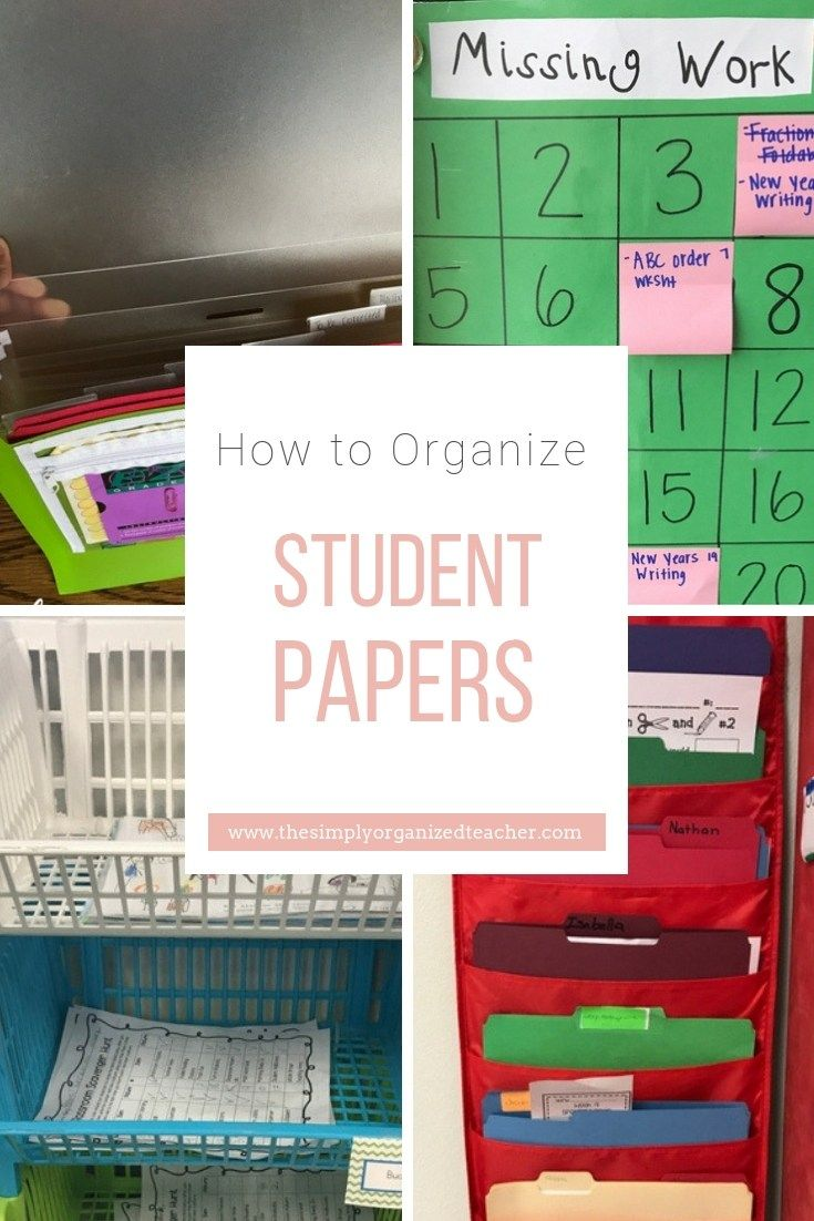 Student Paper Organization Guide | Control the Chaos | Paper ...