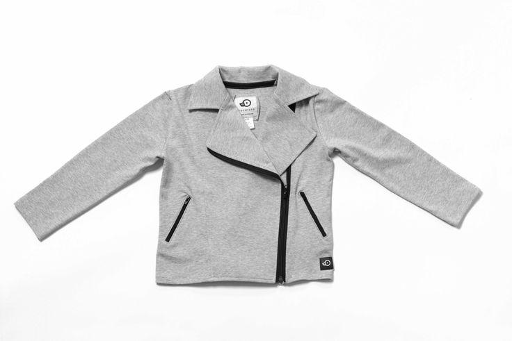 Kids Black Biker Jacket / Cotton Fleece Ramones / Moto Jacket / Fleece jacket / by Pocopato on Etsy
