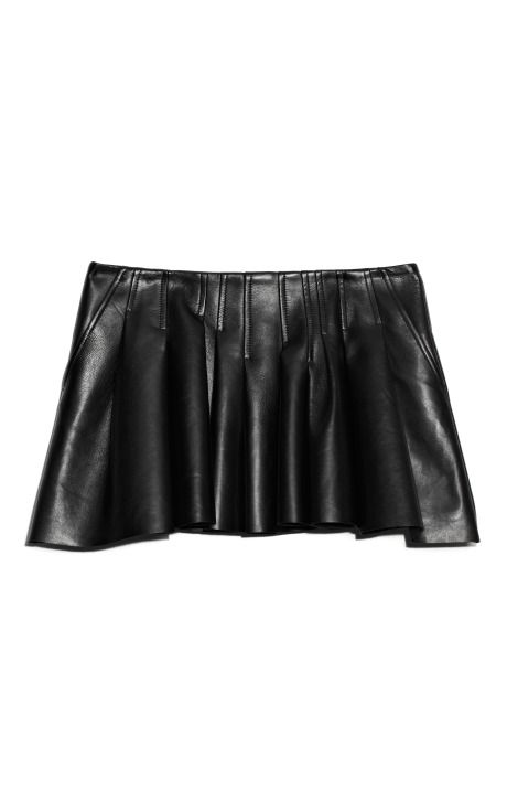 Shop Plonge Lamb Irregular Seam Vacuum Pressed Mini Skirt by Alexander Wang for Preorder on Moda Operandi