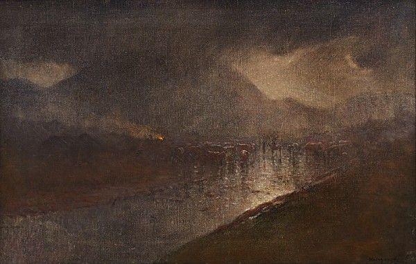 Ladislav Mednyánszky Súmrak v údolí rieky Poprad 1878 – 1880