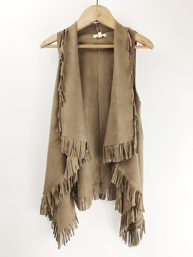 Suede Fringe Vest. Western style. Rodeo fashion. Boutique love. therollinj.com