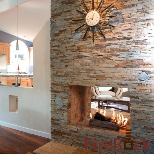 See Through FireRock Fireplace Kit is a great way to separate a room without completely closing it off.