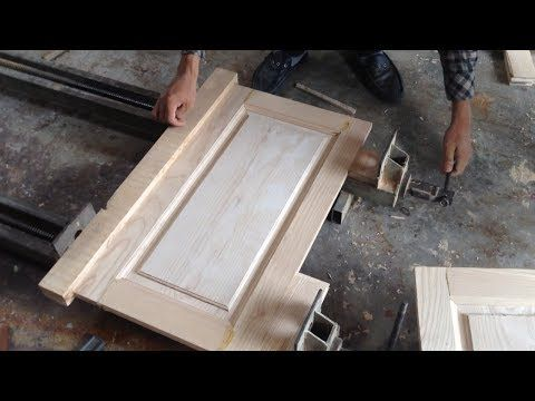 Make a raised panel door with table saw - YouTube