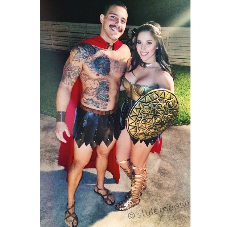 Spartan warrior couples costume 300 Halloween Cosplay