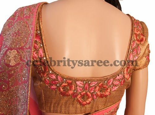 Flowers Saree Blouse Designs
