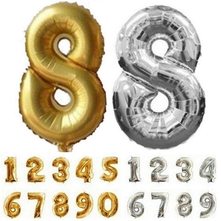 32 polegada Digit Número Um Balão de alumínio Decoração de Aniversário de Casamento Balões De Hélio Balão de Ar Kids Party Favor Suprimentos