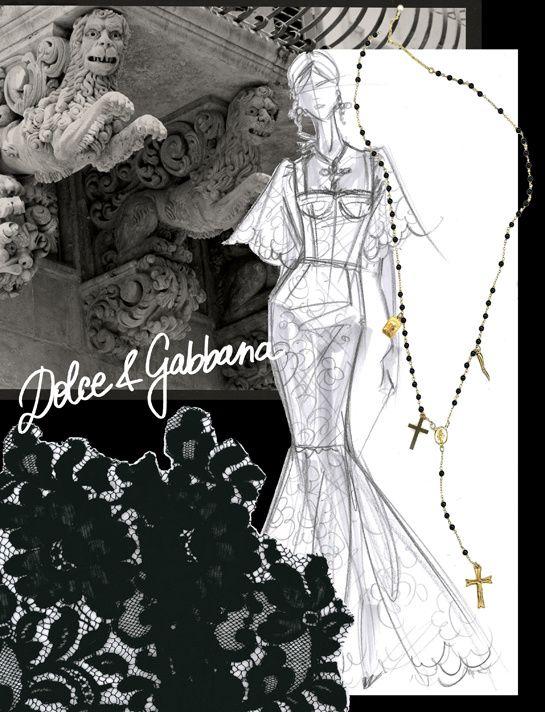 Croquis dinspiration de Domenico Dolce & Stefano Gabbana http://www.vogue.fr/mode/inspirations/diaporama/traits-de-genies-croquis-de-createurs-mode/12687/image/744325#!croquis-d-039-inspiration-de-domenico-dolce-amp-stefano-gabbana
