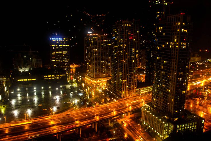Travel to  Toronto  - At night the Toronto in Canada cityscape presents excellent opportunities for long-exposure photographs.  #TraveltoToronto  http://www.farawayvacationrentals.com/view-blog/Travel-to--Toronto/357