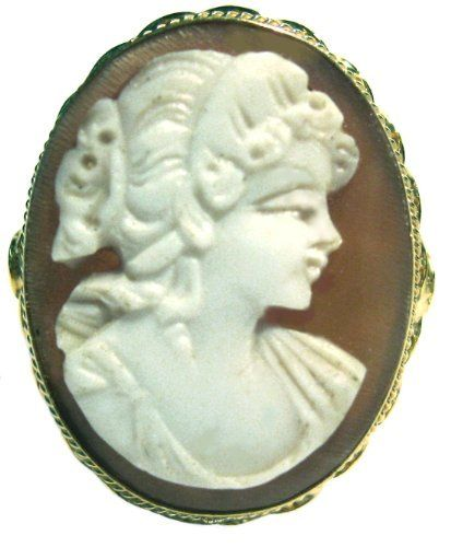Cameo Ring Master Carved, Sterling Silver 18k Gold Overlay Italian Size 8.5 cameosRus. $94.00. One of a Kind,  SIZE 8.5 Heirloom Jewelry,. Collector's Item, Bas Relief, Exceptional Value,. Artisan Jewelry, Great Gift, ITALIAN. Beautiful Cameo Ring, Lady's Profile, Master Carved,. 925 Sterling Silver with 18k Yellow Gold Overlay Frame,. Save 74% Off!