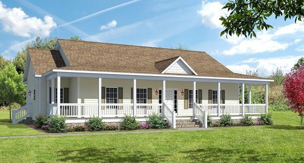 Covered wrap around porch on ranch the ashton i floor for Single story house plans with front porch