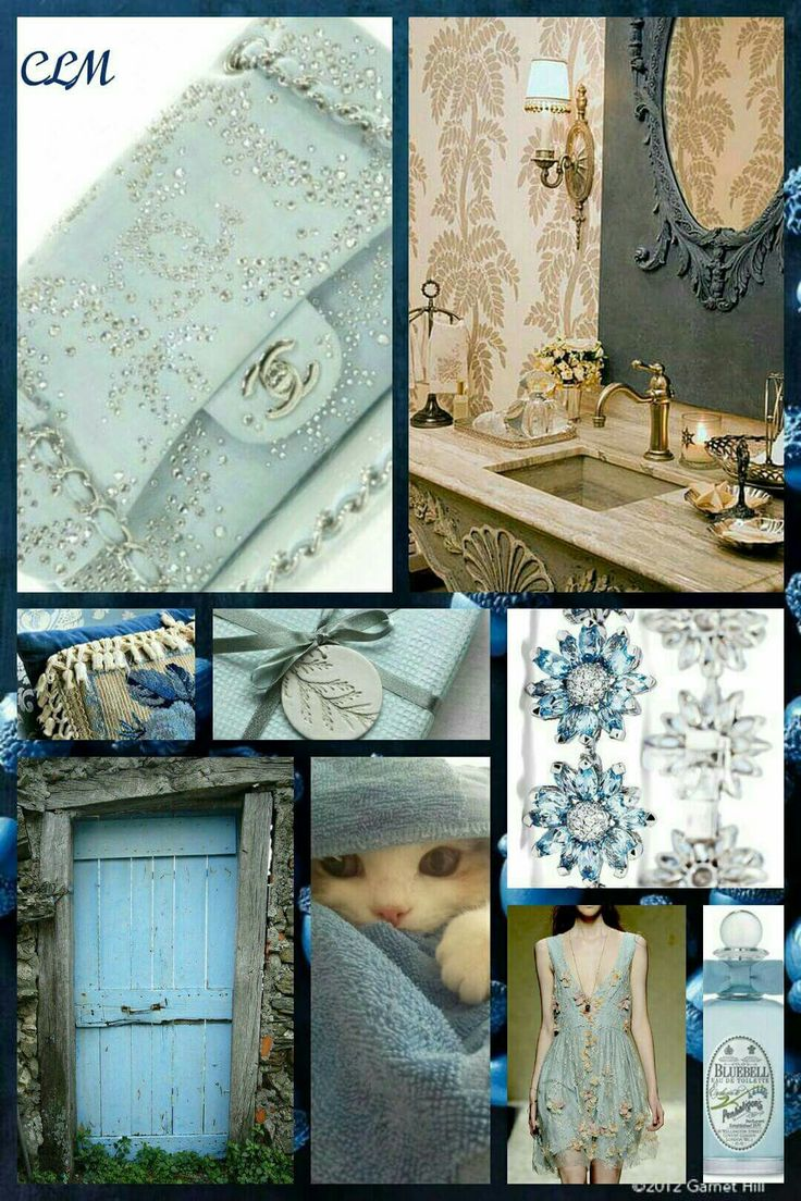 French collage blue collage