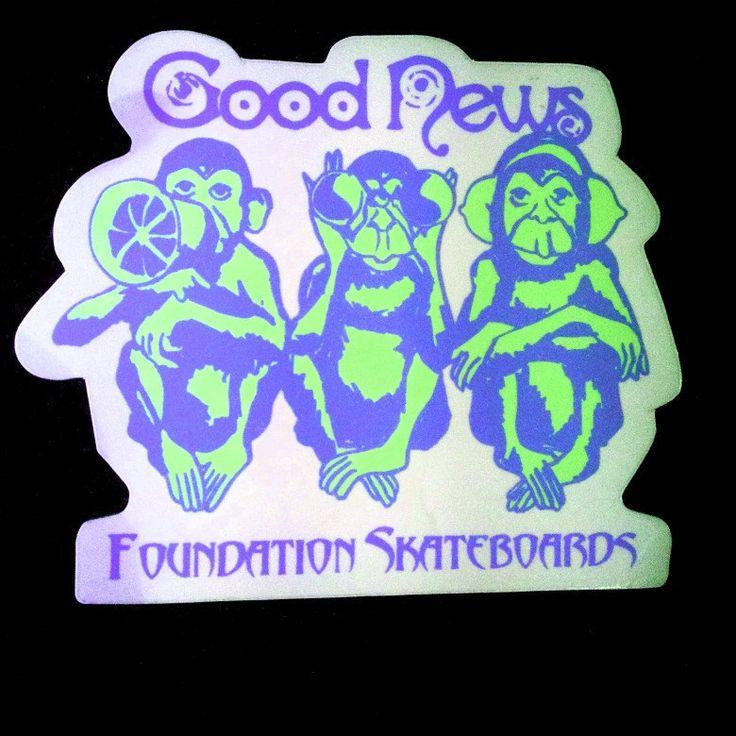 Hear No Evil See No Evil Speak No Evil Foundation Skateboards Sticker