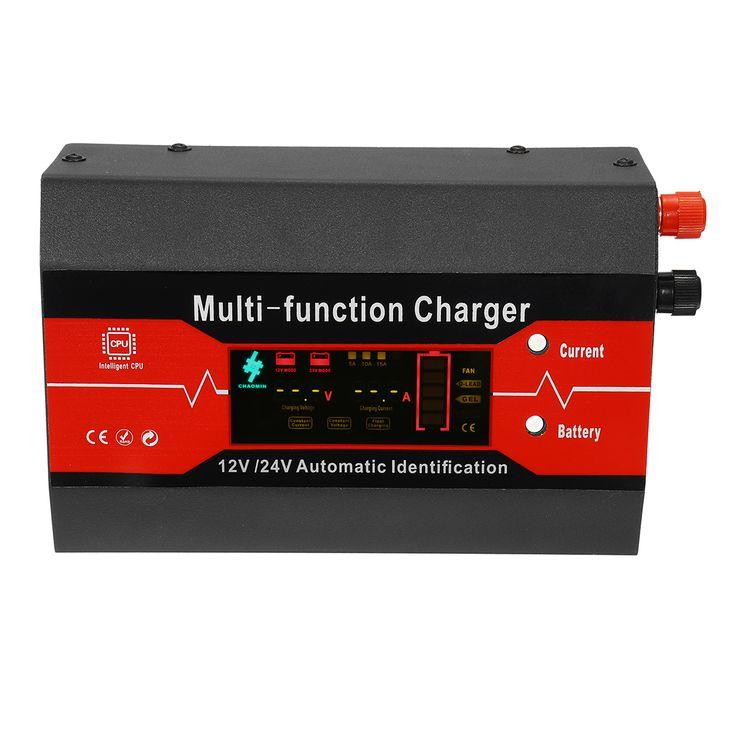 220V 12V/24V 180AH Full Automatic Intelligent Car Battery Charger 5A /10A /15A