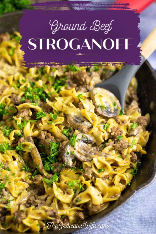 Ground Beef Stroganoff Recipe In 2020 Ground Beef Stroganoff Comfort Food Recipes Dinners Ground Beef