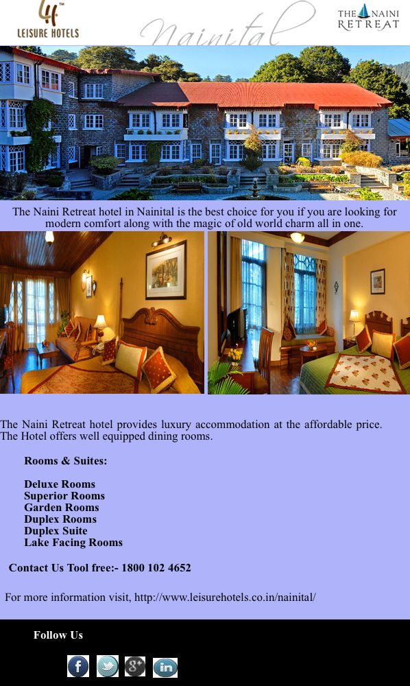 The Naini Retreat offers best resort in Nainital. A luxurious paradise for visitors to Nainital.