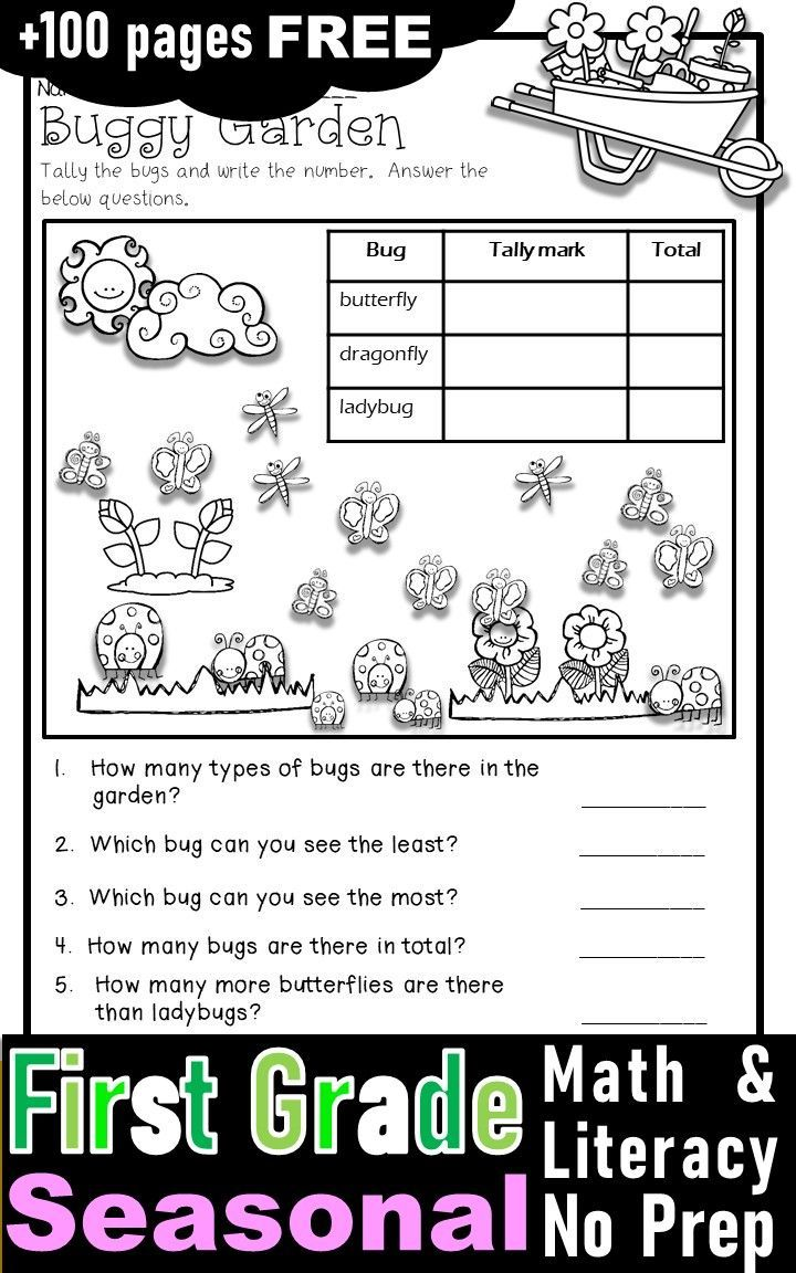 Predownload: Free First Grade Activities And Worksheets With Fall Winter Spring And Winter Theme First Grade Activities Spring Math First Grade Worksheets [ 1152 x 720 Pixel ]