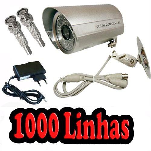 Câmera De Segurança Infra Vermelho Ccd 36 Leds 1000 Linhas