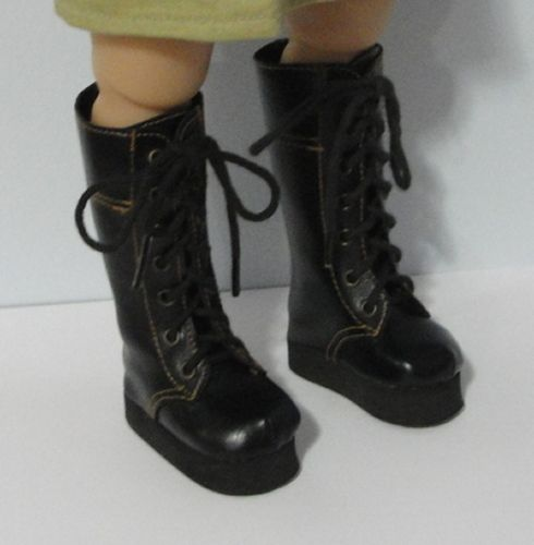 $13 black laceup boots - 8 pair available