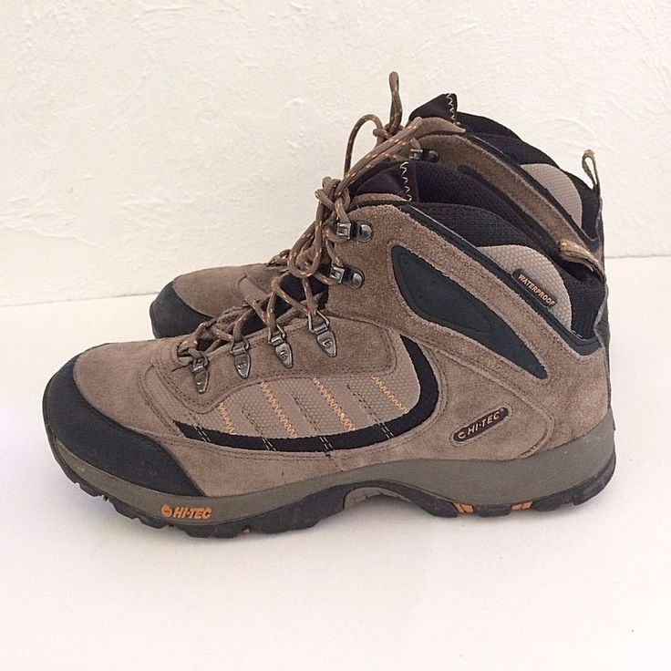 Men's Hi-Tec Hiking Boots Natal Mid WP Waterproof Hiker Shoes Taupe Size 13  #HITEC