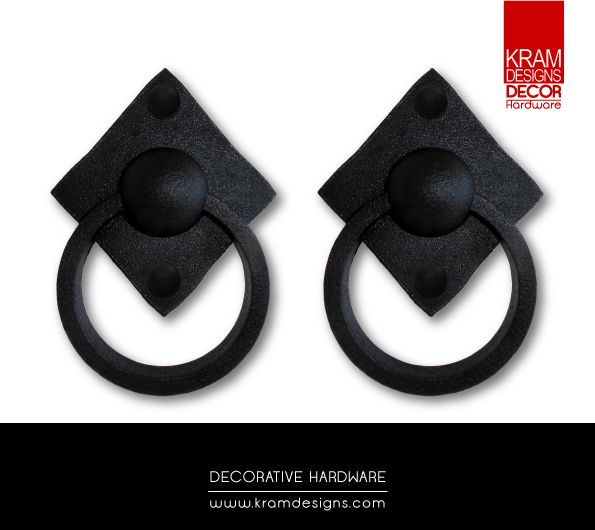 Add False Decorative Knockers from our Kram Designs Decor Hardware range to your door or Garage Door to add that much needed character.