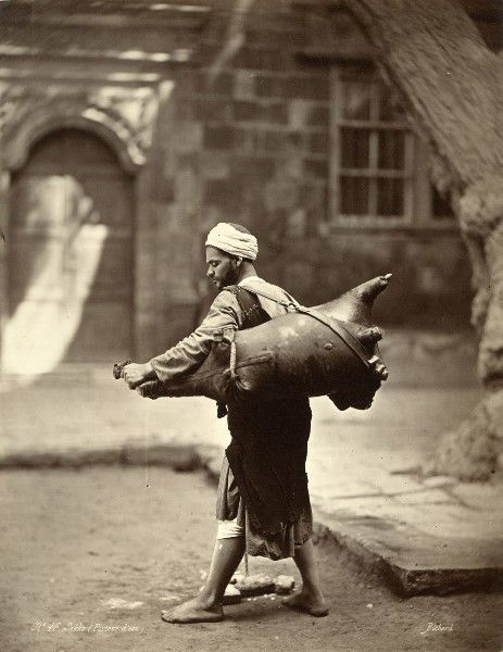 Water Porter, by Henri Béchard, Cairo, 1875