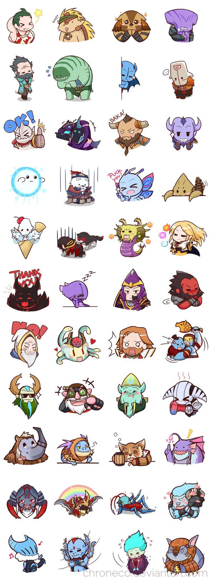 Dota2 Sticker - Compilation by chroneco on DeviantArt