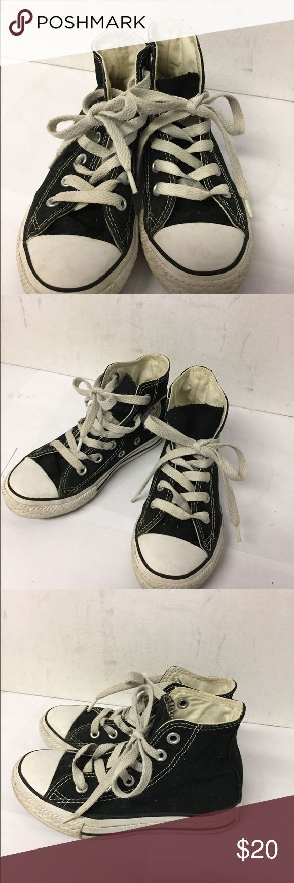 Converse Chuck Taylor Black Hi Tops sz 11 Has a few marks on the white top but these are in good clean condition Converse Shoes Sneakers