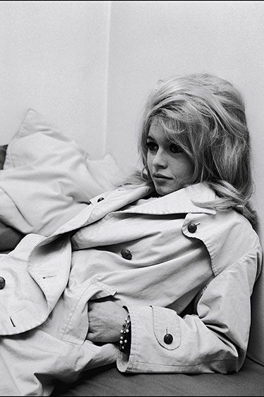 In the Trenches: Celebrity Trench Coats Through the Years - Brigitte Bardot, 1963