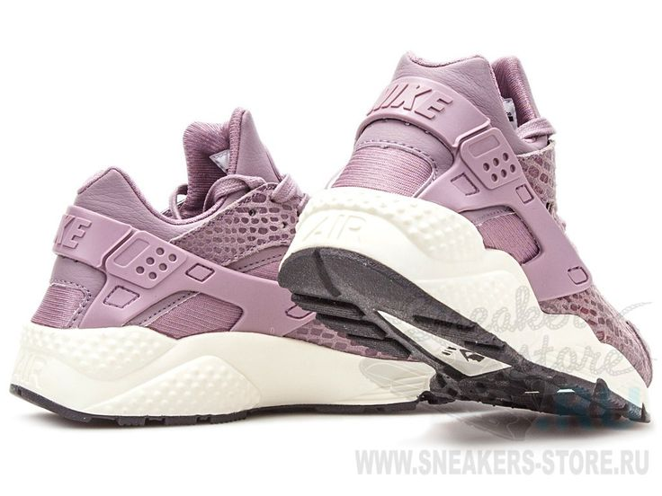 "Женские кроссовки Nike Air Huarache ""Print"" (Purple Smoke/Sail/Anthracite/Purple Smoke)"