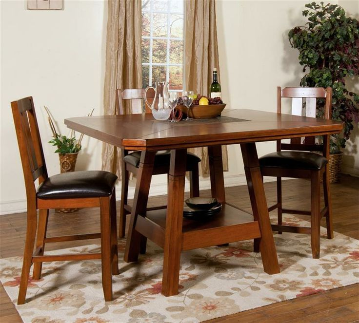 Shop For Sunny Designs Route 66 Adjustable Height Table, And Other Dining  Room Dining Tables At Furniture Mall Of Kansas In Topeka, KS And Lawrence,  KS.
