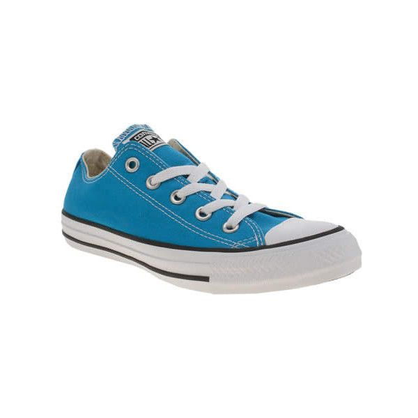 Converse Turquoise All Star Oxford Trainers ($65) ❤ liked on Polyvore featuring shoes, sneakers, turquoise, converse shoes, star shoes, converse footwear, converse oxford and turquoise blue shoes