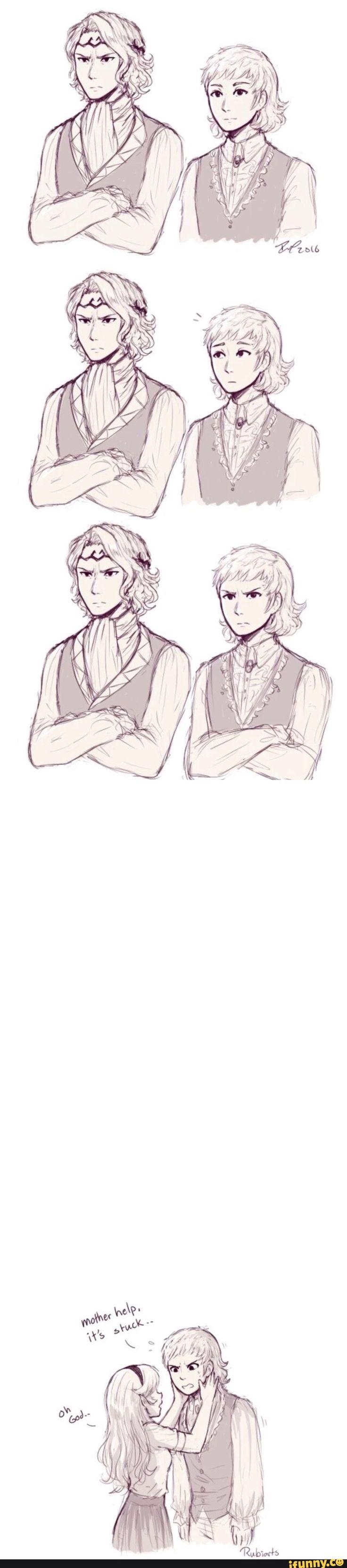Fire Emblem Fates - Xander and Siegbert - like father like son.