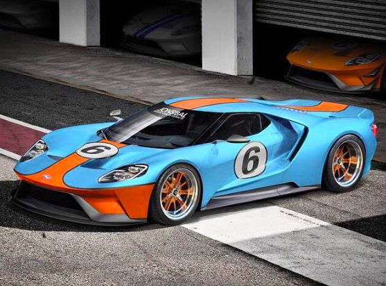 The new FordGT with the classic Gulf paint.