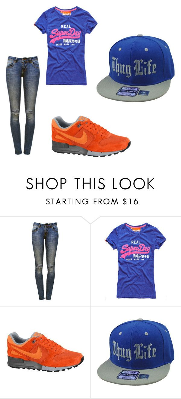 Out! by clarairawan on Polyvore featuring Superdry and Anine Bing