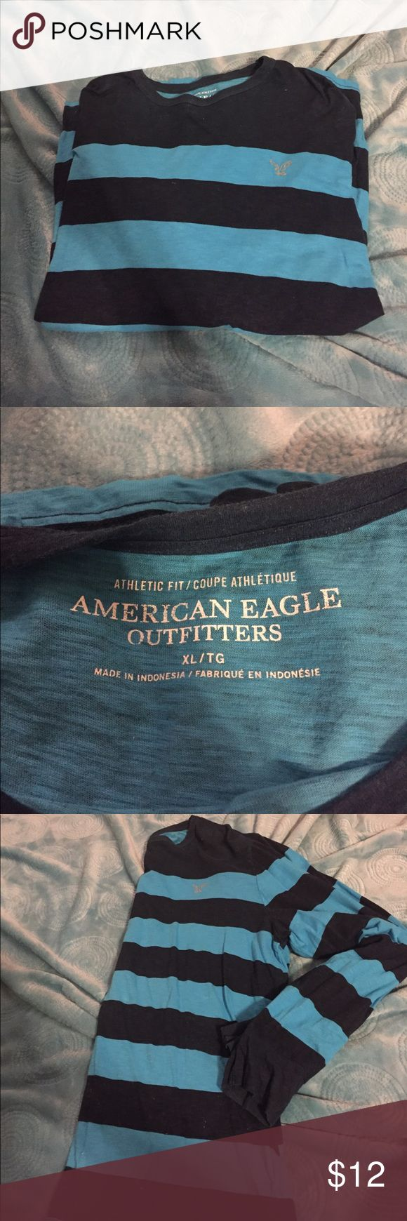 American Eagle men's shirt Long sleeve American Eagle shirt.     Great condition.  Size XL.  Only worn a few times American Eagle Outfitters Shirts Tees - Long Sleeve
