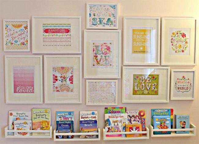 ikea spice rack bookshelf nursery hack
